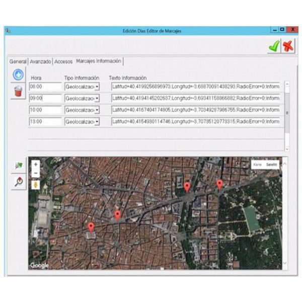Marcaje desde el móvil por GPS