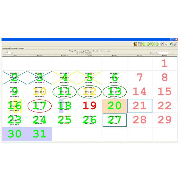 Software Control de Accesos para Terminales Huella Dactilar y Proximidad